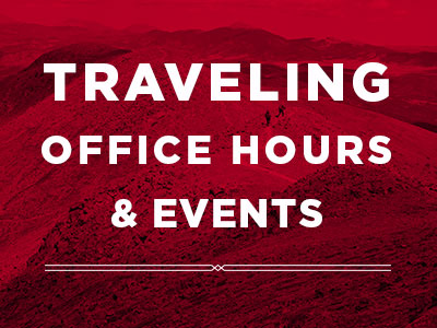 image for traveling office hours & events